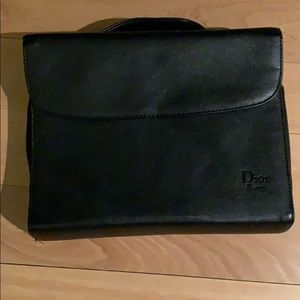 {Dior} Beauty NWOT black makeup bag